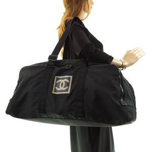Auth Chanel Sports Travel Boston Bag #12287C40
